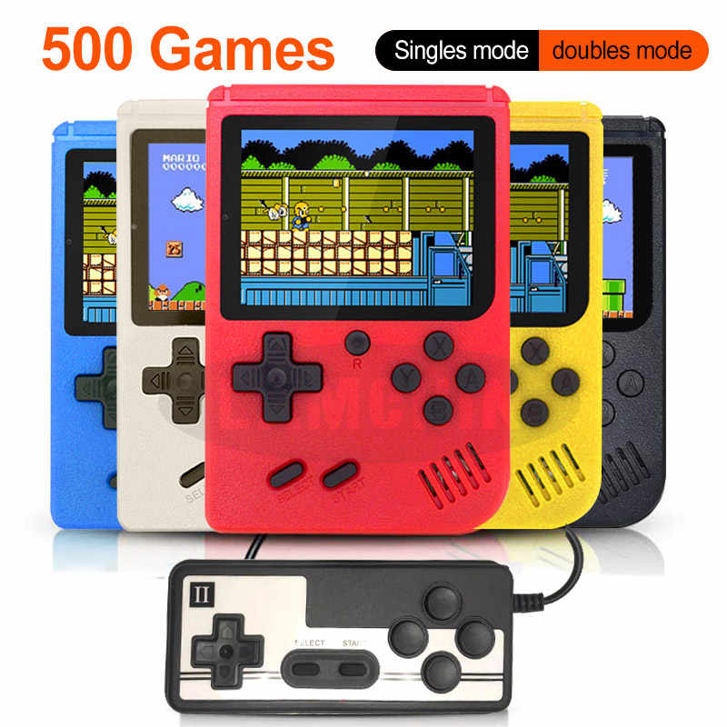 500 In 1 Retro Video Game Console Handheld Game Draagbare Pocket Game Console Mini Handheld Speler Voor Kids Gift