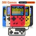 500 で 1 レトロビデオゲームコンソールハンドヘルドゲームプレーヤーポータブルポケットゲームコンソールミニハンドヘルドプレーヤー子供のためのギフト