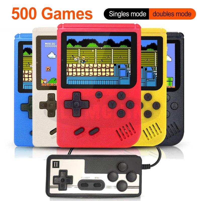 500 em 1 retro console de jogos de vídeo handheld jogo portátil bolso game console mini handheld jogador para o presente das crianças