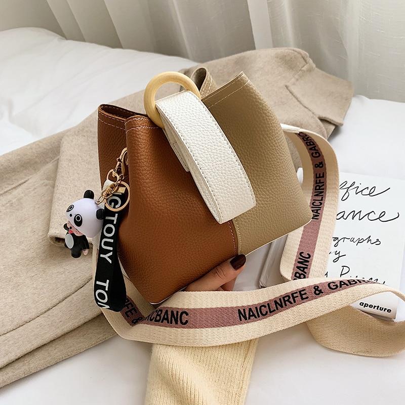 Solid Color Bucket Bags For Women 2020 Luxury Quality Handbags Lady Fashion Shoulder Crossbody Messenger Bag Hand Bag
