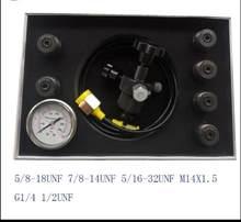 Kit de charge d'accumulateur hydraulique, gaz azoté, pression de charge, 5/16 bars, outil gonflable, à 32unf 7/8UNF