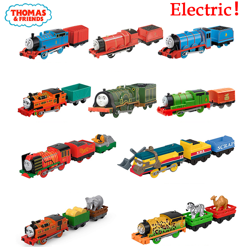 Original Electronal Thomas And Friends Electric 1:43 Diecast Trains Model Motor Metal Car Use Battery Material Kids Toys Oyuncak