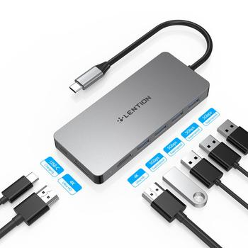 Stacja dokująca USB typu C do stacji dokującej Samsung S20 S10 Dex Pad USB-C do 2 HDMI podwójny Adapter 4K USB 3.0 USB C PD