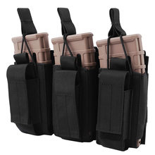 1000D Tactical Double/Triple Mag Pouch Molle Open-Top Triple Magazine Pouch Rifle Carrier Holster for M4 M14 M16 AK AR