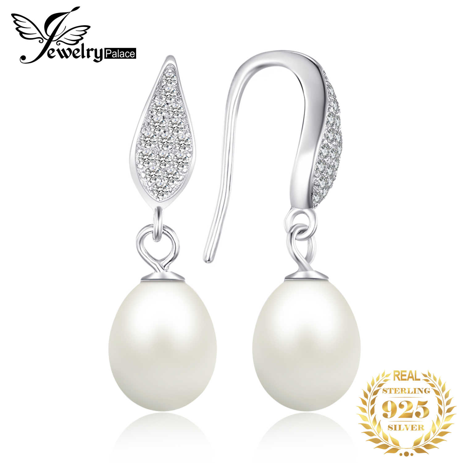 JewelryPalace Freshwater Pearl Dangle Drop Earrings 925 Sterling Silver Earrings For Women Korean Earrings Fashion Jewelry 2019