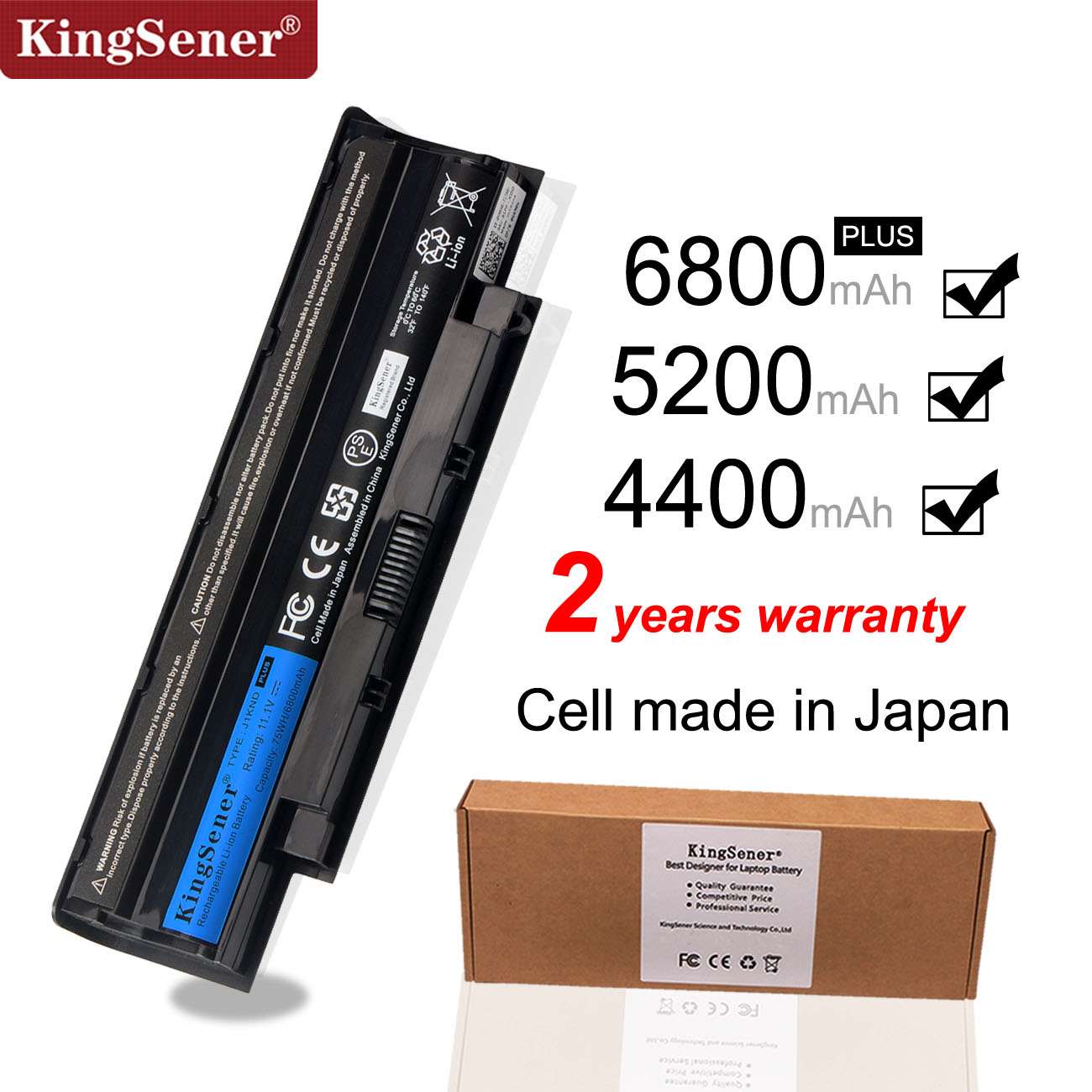 KingSener  J1KND Laptop Battery For DELL Inspiron N4010 N3010 N3110 N4050 N4110 N5010 N5010D N5110 N7010 N7110 M501 M501R M511R