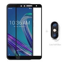 Full Cover Tempered Glass + Camera Protective Glass For Asus Zenfone 6 ZS630kl Max Pro ZB601Kl ZB602KL 5 ZE620KL 5Z M2 ZB631KL for asus zenfone max pro m2 zb631kl zb633kl m1 zb601kl zb602kl 6 6z 2019 zs630kl 5 5z ze620kl zs620kl magnetic flip cover case