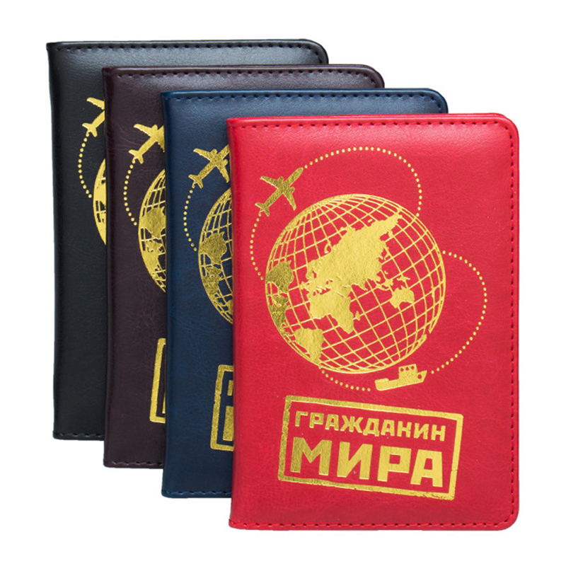 USA Russia Ukrainian Travel Passport Cover Card Case Women Men Travel Credit Card Holder ID Document Passport Holder