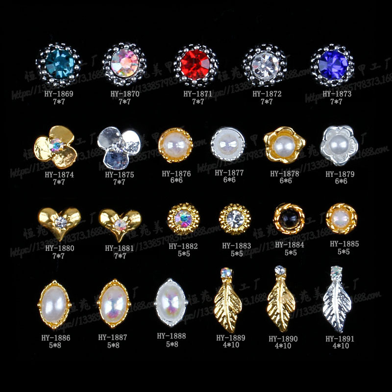 Nail Ornament Japanese-style Delicacy Nail Rhinestone Manicure DIY Diamond Nail Sticker Manicure Alloy Manufacturers Direct Sell
