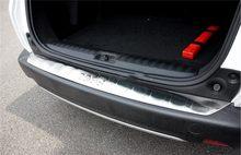 Yüksek kaliteli paslanmaz çelik arka tampon koruyucu eşik Peugeot 2008 2013 2014 2015 2016 2017 2018 2019 araba Styling