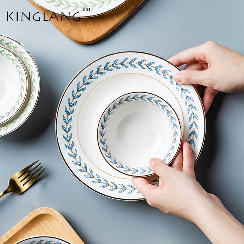 Kinglang Ceramic 1person Dinner Tableware Set Four Seasons