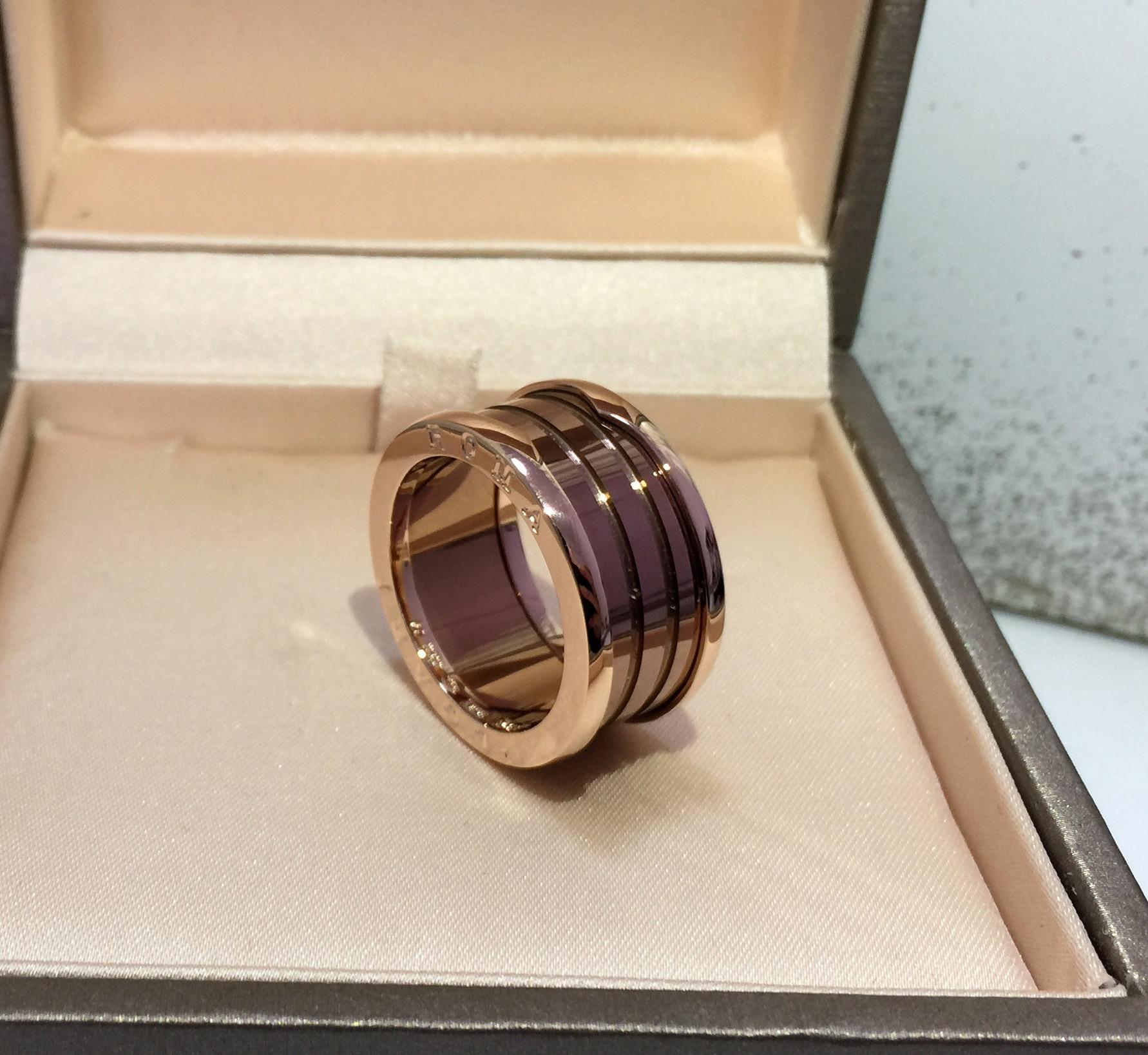 Luxe or Rose café Ceram bagues beauté accessoires de mode lettrage anneau bijoux de mode fête amoureux cadeaux