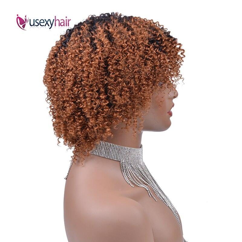 Ussexy afro kinky curly perucas de cabelo