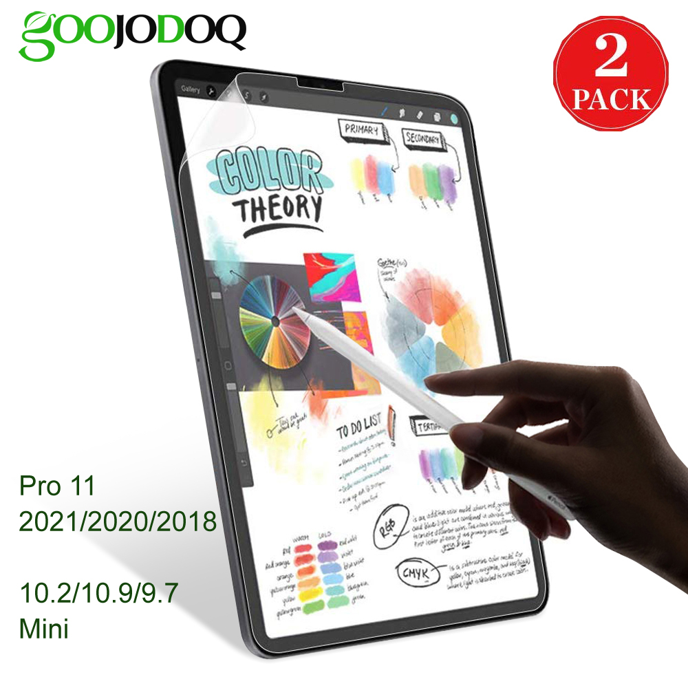 GOOJODOQ Like Writing on Paper Screen Protector for iPad Pro 11 10.5 Air 3 iPad 10.2