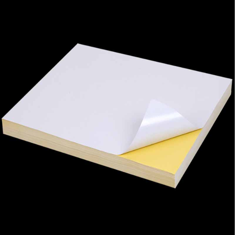 50sheets A4 Self-adhesive Print Paper White Inkjet Laser Printer Paper Sticker Label Sticker Glossy Matte Paper Wood Pulp Paper