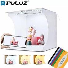 Puluz фото светильник коробка 20 см кольцо светодиодный мини для съемок в фотостудии фон для фотосъемки лайтбокс-студия тента вспышки набор ин...