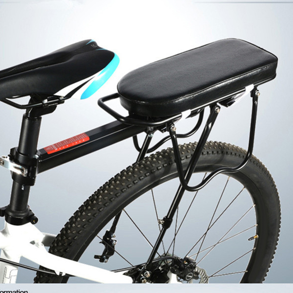 Bicycle Rear Seat Mountain Bike Chair Carrier Cushion Soft Thick Saddle Seat Rear Rack Bike Riding Equipment Supplies