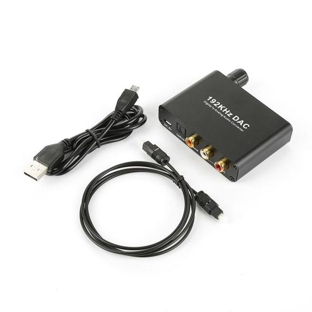 Convertisseur Audio numérique vers audiooptique vers Slink convertisseur Audio Coaxial vers analogique convertisseur adaptateur RCA L/R convertisseur Jack 3.5mm