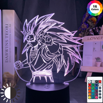 Dragon Ball Night Light 3d Illusion Goku Figure Nightlight for Kids Bedroom Decoration Cool Led Table Lamp Anime Gift for Him 3d led night light baby light goku anime bedroom decoration night light 16 color change usb table lamp dragon ball gift toy