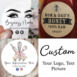 Custom Stickers, Wedding Seals, Labels, Add Business Logo, Photo, Text, Picture, 100 Pieces, Customized, Personalised