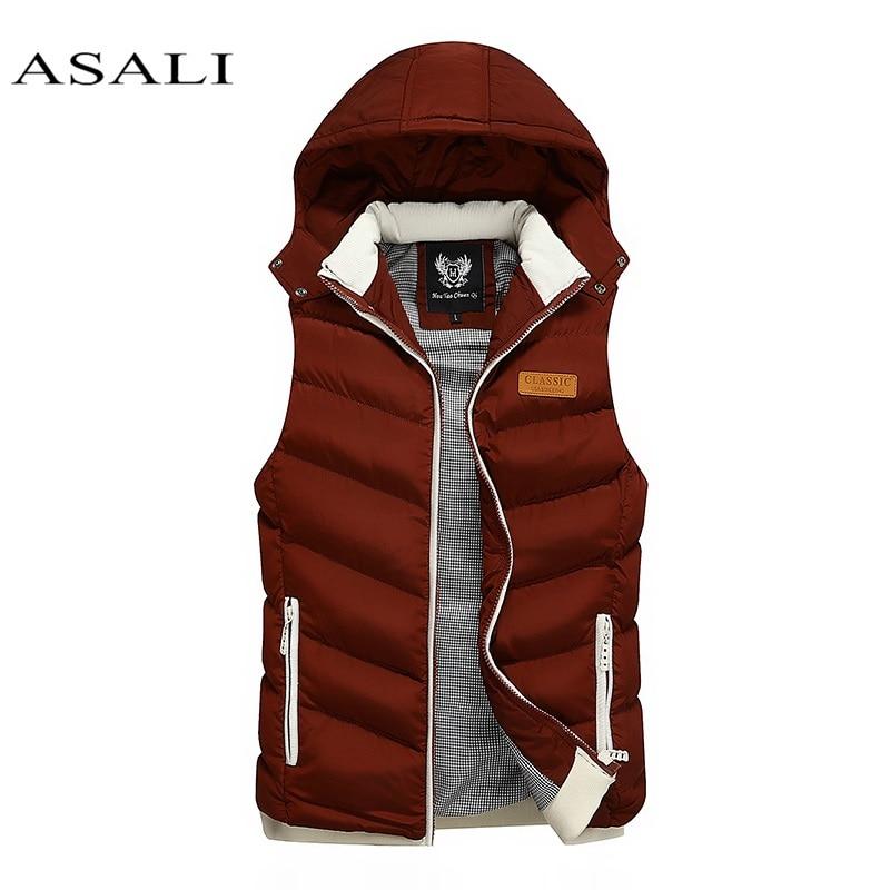 Men White Duck Down Vest Ultralight Sleeveless Jacket Stand Collar Loose 2019 New Autumn Winter Warm Innrech Market.com
