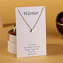 Ailodo Make a Wish Triangle Pendant Necklace For Women Girls Gold Silver Color Chain Statement Fashion Jewelry LD246