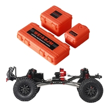 Cnc Aluminum Alloy Carbon Frame Carbon Body Belt Decorative Box for 1/10 Axis Scx10 Chassis 313 Mm Axle Base Automobile Tracked f cloud gepu gep vx5 through machine four axis carbon fiber through the rack x frame aluminum alloy keel structure