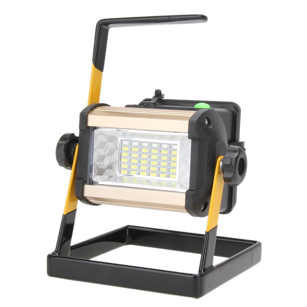 Перезаряжаемые 50 Вт 2400LM светодиодный US прожектор, точечный светильник, Портативный прожектор Водонепроницаемый IP65 50 Вт 2400LM 36 светодиодный 3-режимный напольный светильник - Испускаемый цвет: Without battery