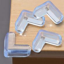 4 шт., мягкий ПВХ защитный уголок для стола, защитный уголок для детей, защитная крышка, безопасная Подушка с двусторонней клейкой лентой