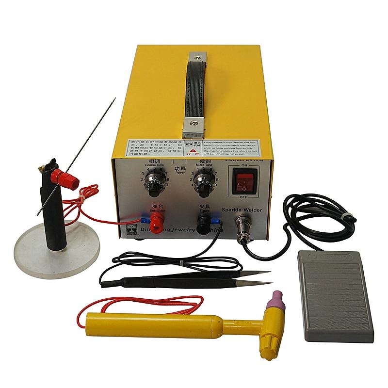 110V Portable Mini Spot Welder Jewelry Spot Welding Machine Tool Model DX-30A