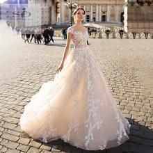 SODigne Lace boho Trouwjurk 2020 A Line Bruid Jurken Elegante & Fairy Bruidsjurken Custom Made bruidsjurken voor bruid