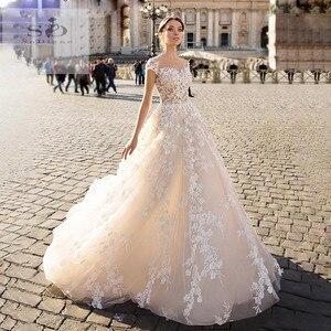 Image 1 - SODigne תחרה boho 2020 קו הכלה שמלות אלגנטי & פיות חתונה שמלות תפור לפי מידה חתונה שמלות כלה