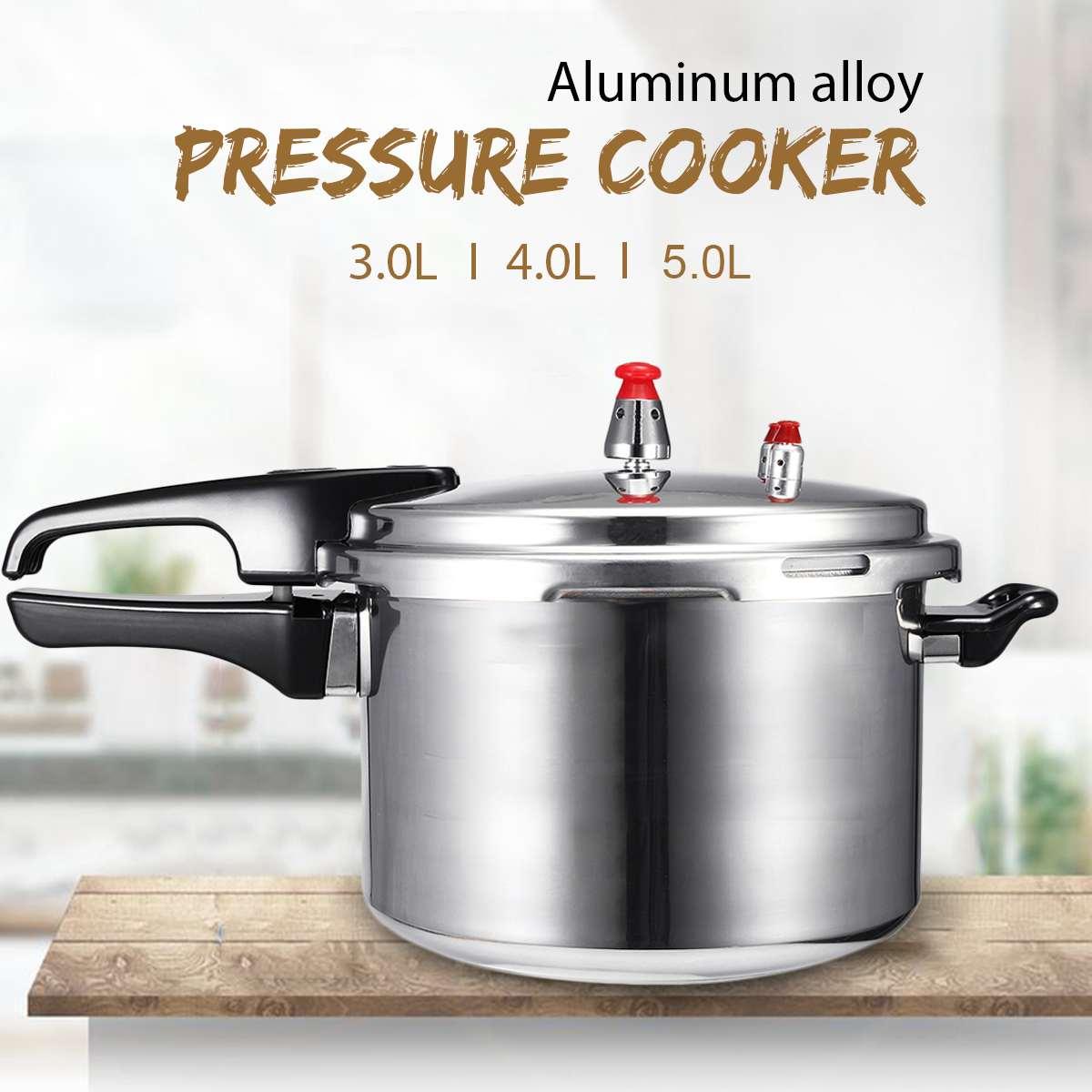 Кухонная скороварка из алюминиевого сплава 3/4/5 л, газовая плита, энергосберегающая защита для приготовления пищи, уличная посуда для кемпин...