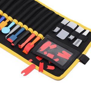Image 5 - EHDIS 32PCS vinile pellicola per Auto avvolgere magnete Stick tergipavimento Set finestra tinta bordo feltro morbido raschietto adesivo in fibra di carbonio Kit di strumenti Auto
