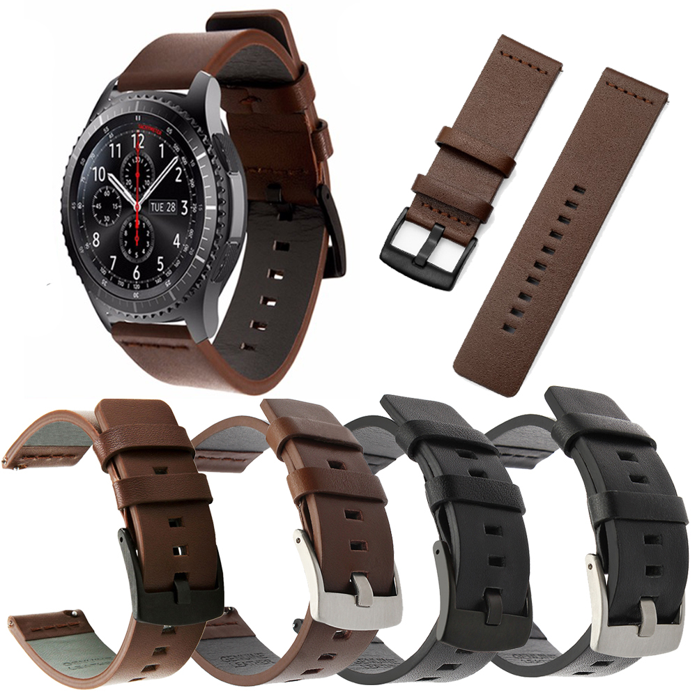 Leather Strap Huawei Watch GT For Samsung Gear S3 Classic Frontier Galaxy Watch 46mm Band 22MM Huami Amazfit Bip Smartwat