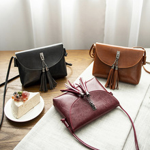 new simple women's bag single shoulder oblique satchel casual oil leather lady small package wholesale summer on new small bag woman package 2019 new pattern han banchao single shoulder satchel fashion concise joker fairy package