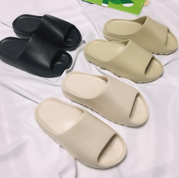 DIY Kanye West Jelly Season6 Style Slippers Man Summer Shoes Slip-resistant Slide Sandals Summer Male Slippers Unibody Slides
