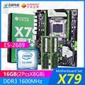 Материнская плата HUANANZHI X79 X79 V2.49 PB M.2 NVME ATX с процессором Intel Xeon E5-2689 2 6 ГГц 2*8 Гб (16 Гб) DDR3 1600 МГц RECC ram
