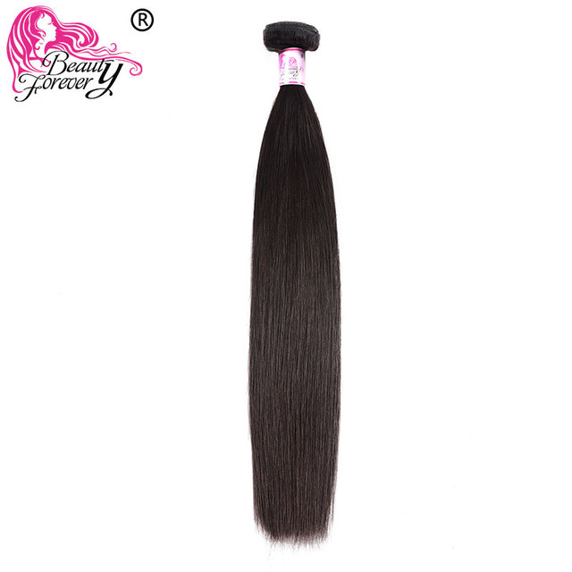 $ US $29.98 Beauty Forever Indian Straight Human Hair Weave Bundles 100% Remy Hair Weaving Natural Color Free shipping