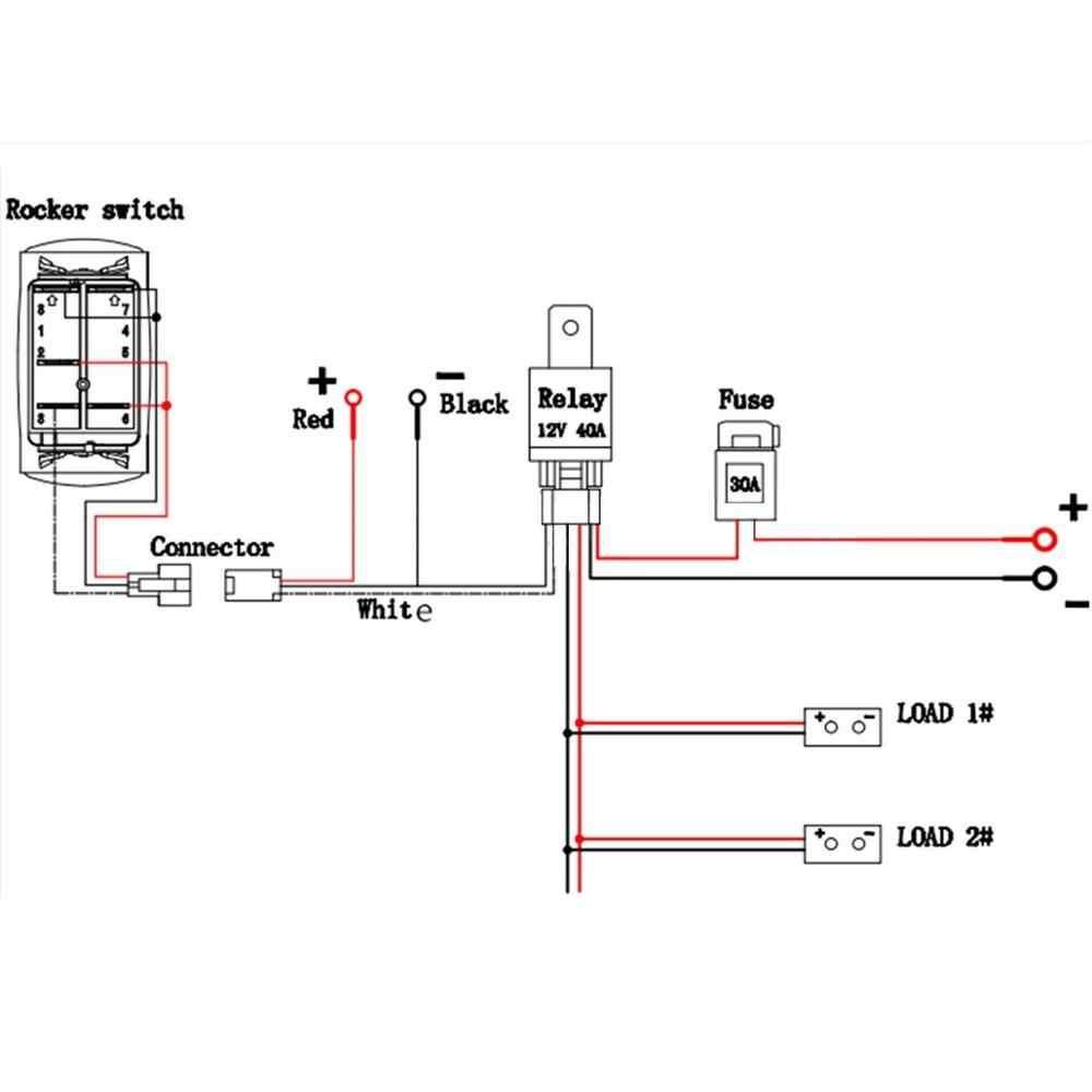 12 24v Car Winch Freespool 12v 20 Toggle Rocker Switch Blue Led Light 5pin On Off Aliexpress