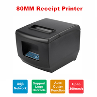 POS Printer High Quality 300mm/s 80mm Barcode Thermal Receipt Printer Kitchen Restaurant Automatic Cutter with USB / Lan Port