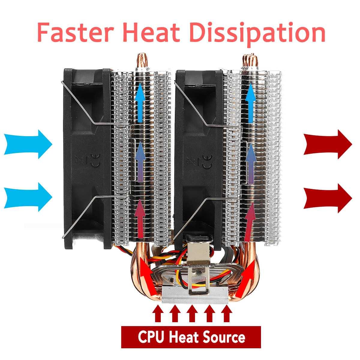 Lga 2011 rgb cpu cooler 6heatpipes radiador