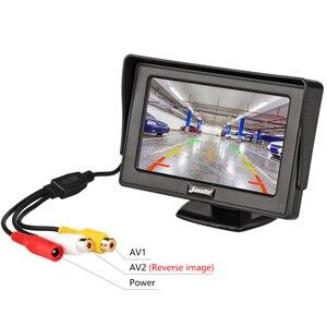 Image 5 - Монитор для автомобиля Jansite, 4,3 дюймовый TFT ЖК дисплей, беспроводная камера s, камера заднего вида, парковочная система, NTSC PAL
