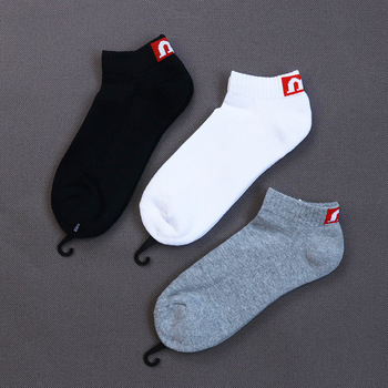 Cotton Solid Letters Short Ankle Socks M Comfortable Breathable Sweat absorption Casual Pattern Men Socks Hot sale hot sale m page 5