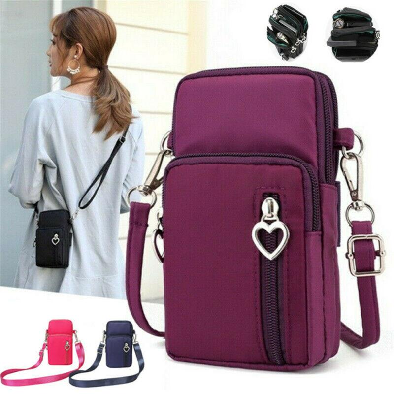 2019 Brand New Style Women Cross Body Mobile Phone Shoulder Bag Pouch Case Belt Hot Sale Purse Wallet