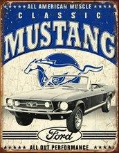 Mustang Классический ford mustang металлическая жестяная вывеска