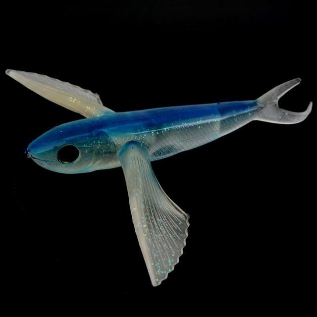 مياه البحر الصيد الطعم يطير الأسماك عيون ثلاثية الأبعاد 22 سنتيمتر 124 جرام الصيد إغراء لينة التصيد التونة الطعم البحر الصيد قارب الماكريل
