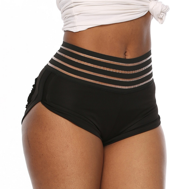 Solid Color Fitness Shorts Sporty Shorts High Waist Short Pants Breathable Seamless Sport Clothes  Running Shorts