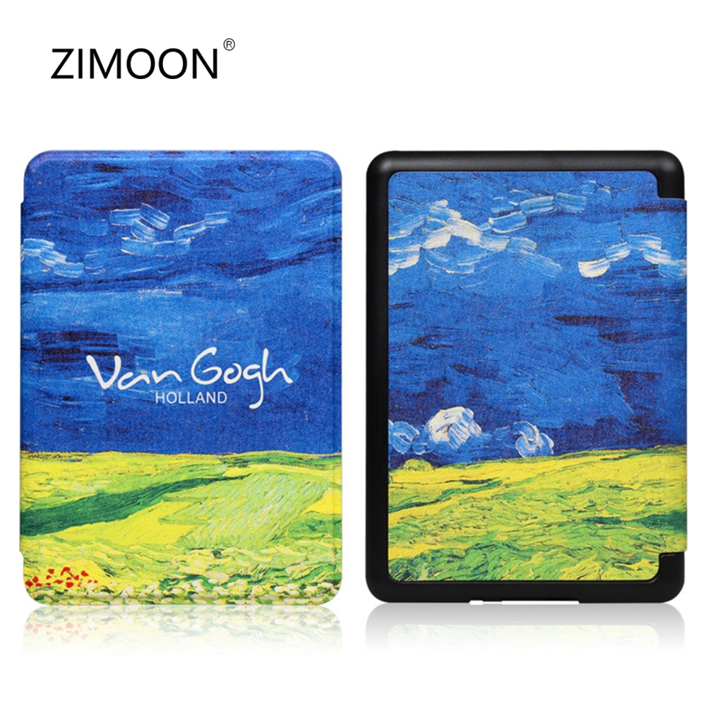 Colorful Smart Case For Amazon Kindle Paperwhite 4 Van Gogh Series Pattern Cover For Kindle Paperwhite 10th Gen 2018 Released