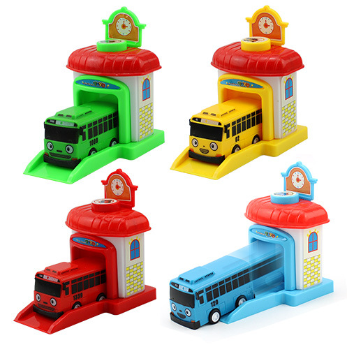 Scale Model Tayo The Little Bus Children Miniature Bus Plastic Baby Oyuncak Garage Tayo Bus Toys Christmas Gift For Kids